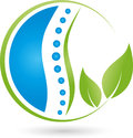 Spine and leaves, naturopath and wellness logo