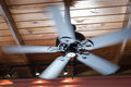 Spinning Ceiling Fan Royalty Free Stock Photo