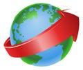 Spinning globe arrow illustration Royalty Free Stock Photo
