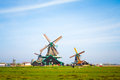 Spinning Old Windmills Royalty Free Stock Photo