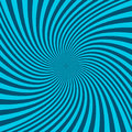 Spiral abstract background - vector graphic from twisting rays Royalty Free Stock Photo