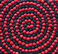 Spiral of berry. Raspberry and mulberry Royalty Free Stock Photo