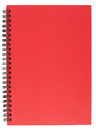 Spiral Bound Notepad with Red Cover Stock Photos