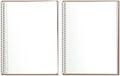 Spiral bound paper notepad