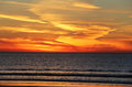 Spiral California Pacific Sunset Royalty Free Stock Photo