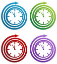 Spiral Clock Royalty Free Stock Photo