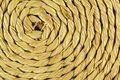 Spiral craftwork with bamboo fibers close up texture Royalty Free Stock Photo