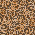 Spiral curls vector seamless tiling pattern Royalty Free Stock Photo