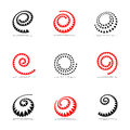 Spiral design elements set vector art Royalty Free Stock Photo