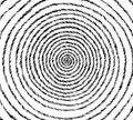 Spiral design hand drawn pen on paper illustration black white Royalty Free Stock Photo