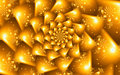 Spiral fractal flower design gold Royalty Free Stock Photos