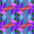 Spiral Fractal Pattern In Brig...