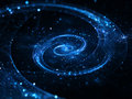 Spiral galaxy in deep space abstract background Stock Photography