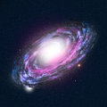 Spiral galaxy high detailed illustration Stock Photography
