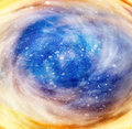 Spiral galaxy space stars Royalty Free Stock Images