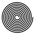 Spiral Helix Gyre Icon Black C...