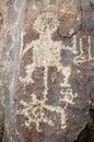 Spiral human figure Petroglyph Royalty Free Stock Image