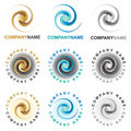 Spiral icons and logo design elements Royalty Free Stock Photo