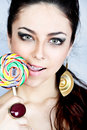 Spiral lollipop Royalty Free Stock Photo