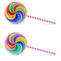 Spiral lollipop Stock Images