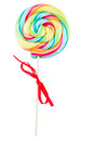 Spiral lolly pop candy isolated on white background Stock Photo