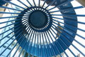 Spiral Metal Ceiling Stock Photo
