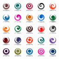 Spiral movement in circle shape. Design elements Royalty Free Stock Photo