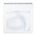 Spiral notebook with squared paper sheets isolated on white including clipping path Royalty Free Stock Image