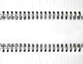 Spiral notebook for texture Royalty Free Stock Images