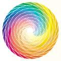 Spiral rainbow Royalty Free Stock Photo