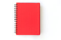 Spiral red notebook on white background Royalty Free Stock Photo