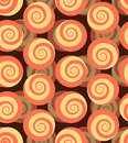 Spiral seamless pattern. 3d background of snails. Royalty Free Stock Photo