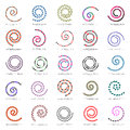 Spiral set. 25 design elements. Royalty Free Stock Photo