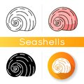 Spiral shell icon Royalty Free Stock Photo