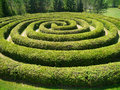 A spiral shrub maze Royalty Free Stock Photo