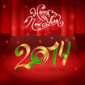 Spiral on stage illustration background happy new year curtain Royalty Free Stock Images