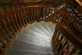 Spiral stair case a inside the tower bridge on the river thames Stock Photography