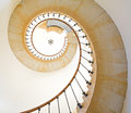 Spiral staircase bottom view of lighthouse Stock Photo