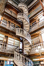 Spiral staircase at the Law Library in the Iowa State Capitol Royalty Free Stock Photo
