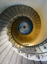 Spiral staircase into a lighthouse Stock Image