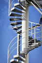 Spiral staircase at a modern chimney Royalty Free Stock Photos