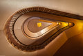 Spiral staircase old high retro style Royalty Free Stock Images