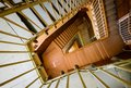 Spiral staircase on old house Royalty Free Stock Photo