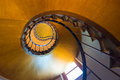 A spiral staircase in an old house Royalty Free Stock Photos