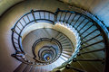 Spiral staircase in the Ponce de Leon Inlet Lighthouse, Florida. Royalty Free Stock Photo