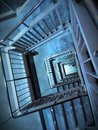 Spiral staircase then i saw a revolve Royalty Free Stock Photo