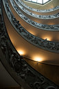 Spiral staircase in Vatican museum Royalty Free Stock Photo