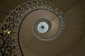 Spiral staircase view of from the ground looking up Royalty Free Stock Image