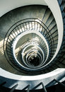 Spiral stairs from above Royalty Free Stock Photo
