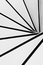 Spiral stairs in black and white Royalty Free Stock Photo